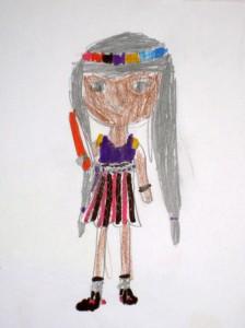 For illustration only. By Dania Kariv, age 7
