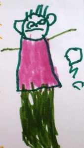 For illustration only. Omri, age 4.5